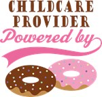 Childcare Provider Powered By Donuts Gift T-shirts