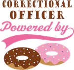 Correctional Officer Powered By Donuts Gift Tees