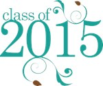 Teal Color Class Of 2015 Graduate Gift T-shirts