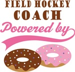 Field Hockey Coach Powered By Donuts Gift T-shirts