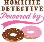 Homicide Detective Powered By Donuts Gift T-shirts