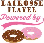 Lacrosse Player Powered By Donuts Gift T-shirts