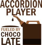 Accordion Player Fueled By Chocolate Gifts