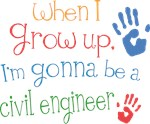 Future Civil Engineer Kids T-shirts