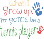 Future Tennis Player Kids T-shirts