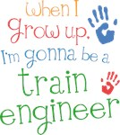 Future Train Engineer Kids T-shirts