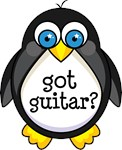 Guitar Music Penguin T-shirts and Gifts