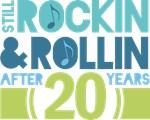 20th Anniversary Rock N Roll Tshirts