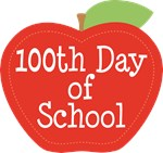 100th Day Of School Apple T-shirts