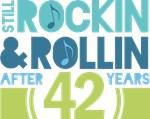 42nd Anniversary Rock N Roll Tshirts