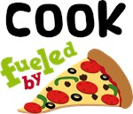 COOK Funny Fueled By Pizza T-shirts