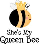She's My Queen Bee Couples T-shirts