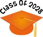2028 School Class Graduation (Orange)