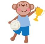 Volleyball Monkey Kids Tee Shirts