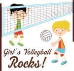 Girls Volleyball Rocks T-shirts