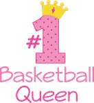 Basketball Queen (Number One) T-shirt Gifts