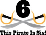 6th Birthday Pirate Tee Shirts