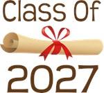 2027 School Class Diploma Design Gifts