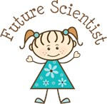 Future Scientist Stick Girl Occupation T-shirts