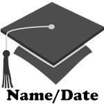 Personalized Gray School Colors Graduation Apparel