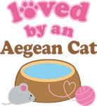 Loved By An Aegean Cat Tshirt Gifts