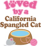 Loved By A California Spangled Cat Tshirt Gifts