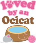 Loved By An Ocicat Tshirt Gifts