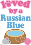 Loved By A Russian Blue Cat T-shirts