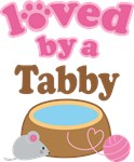 Loved By A Tabby Tshirt Gifts