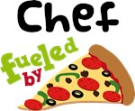 CHEF Funny Fueled By Pizza T-shirts