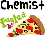 CHEMIST Funny Fueled By Pizza T-shirts