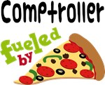 COMPTROLLER Funny Fueled By Pizza T-shirts