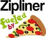 ZIPLINER Funny Fueled By Pizza Tshirts