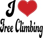 I Heart Free Climbing T-shirts and Gifts
