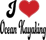 I Heart Ocean Kayaking T-shirts and Gifts