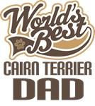 Cairn Terrier Dad (Worlds Best) T-shirts
