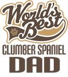 Clumber Spaniel Dad (Worlds Best) T-shirts