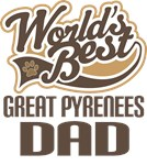 Great Pyrenees Dad (Worlds Best) T-shirts