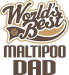 Maltipoo Dad (Worlds Best) T-shirts