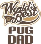 Pug Dad (Worlds Best) T-shirts