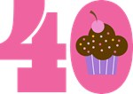 40th BIRTHDAY Cupcake T-SHIRT GIFTS