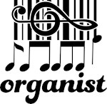 Organist Music Treble Clef Logo T-shirts