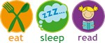 Eat Sleep Read Cute Reading T-shirts