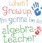 Future Algebra Teacher Kids T-shirts