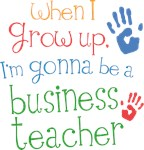 Future Business Teacher Kids T-shirts