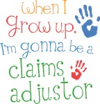 Future Claims Adjustor Kids T-shirts