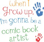 Future Comic Book Artist Kids T-shirts