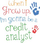 Future Credit Analyst Kids T-shirts