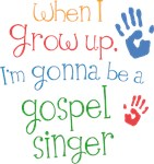 Future Gospel Singer Kids T-shirts