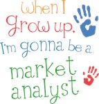 Future Market Analyst Kids T-shirts
